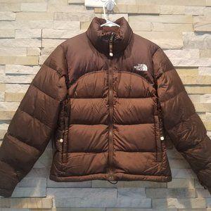 North Face Womens XS Brown Nuptse Down Jacket Coat